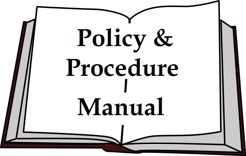 Policy and Procedure Manual clip art
