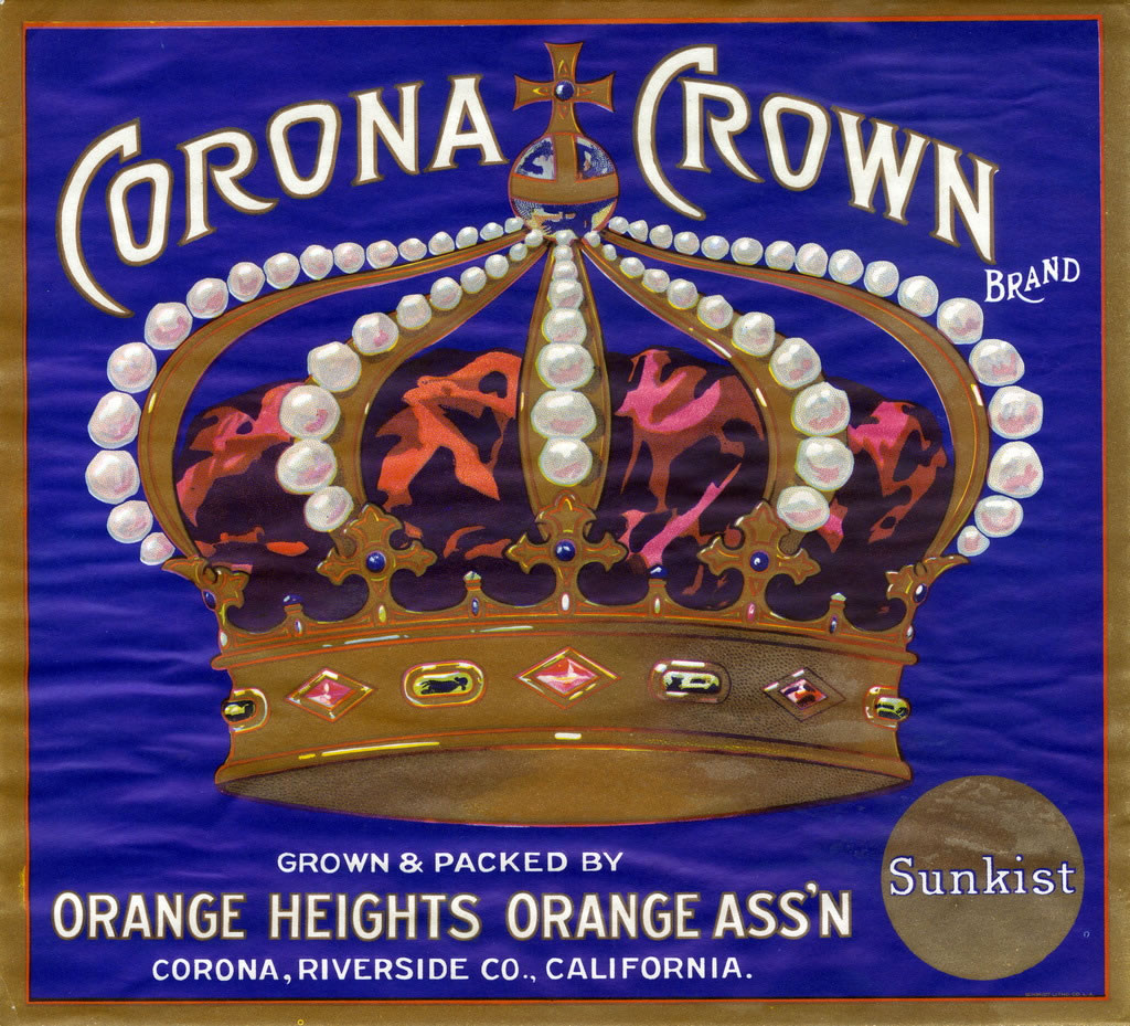 Citrus Label Collection Corona Crown Brand Jpg