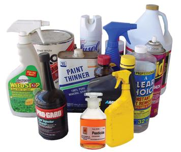 household hazardous waste containers