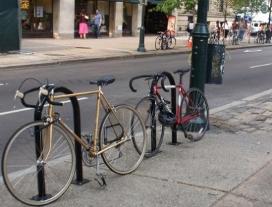 visible bike rack