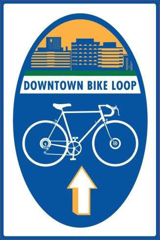 Downtown bike loop signage