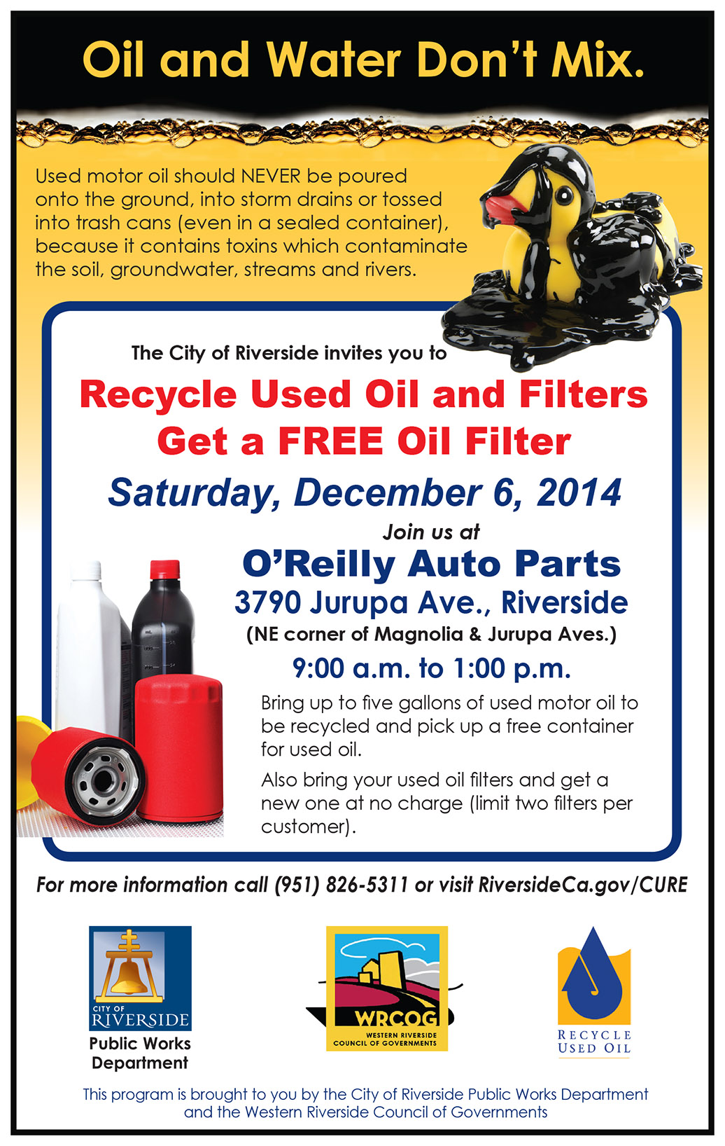 used oil flyer
