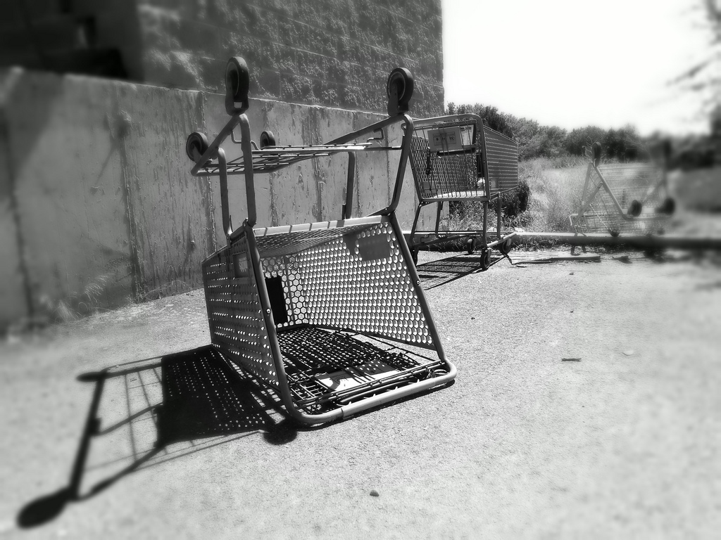 abandoned shopping cart clip art