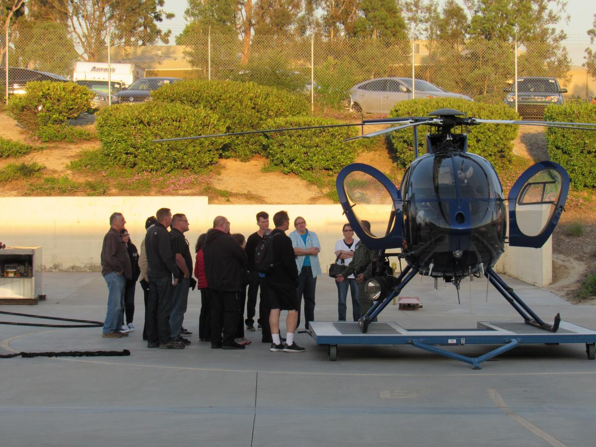Citizen Academy Learning About Police Helicopters
