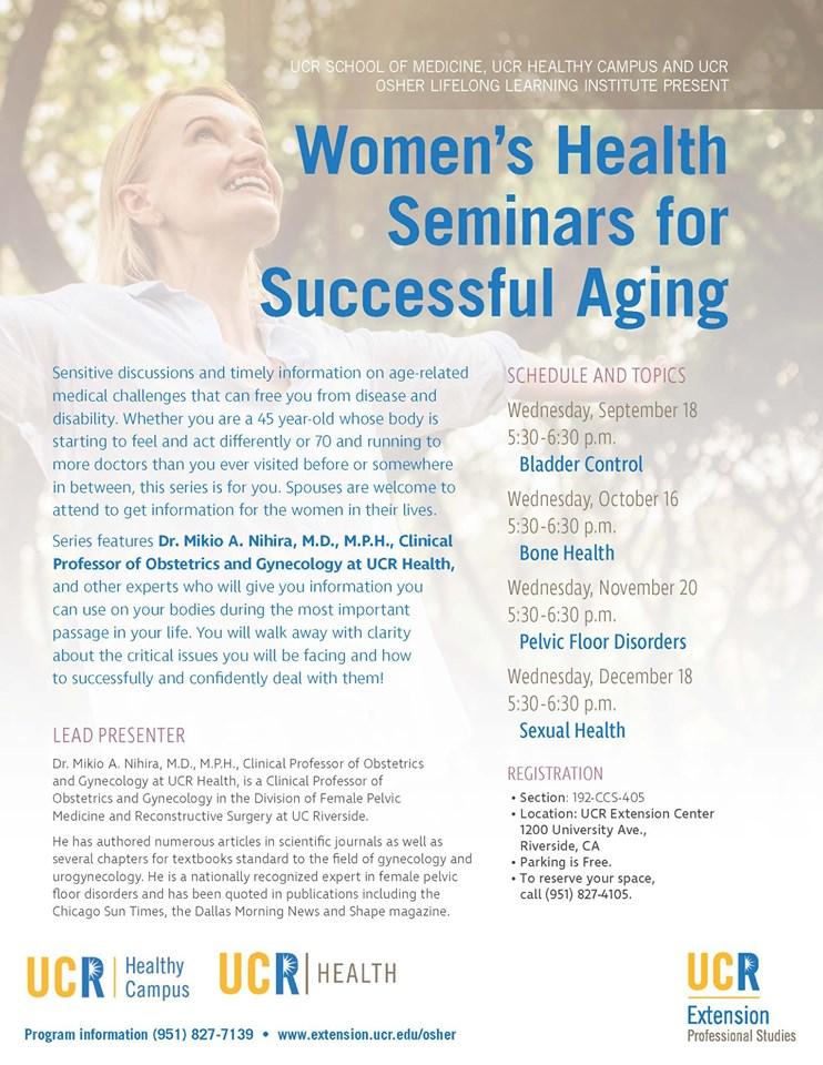 Health Seminars For Successful Aging