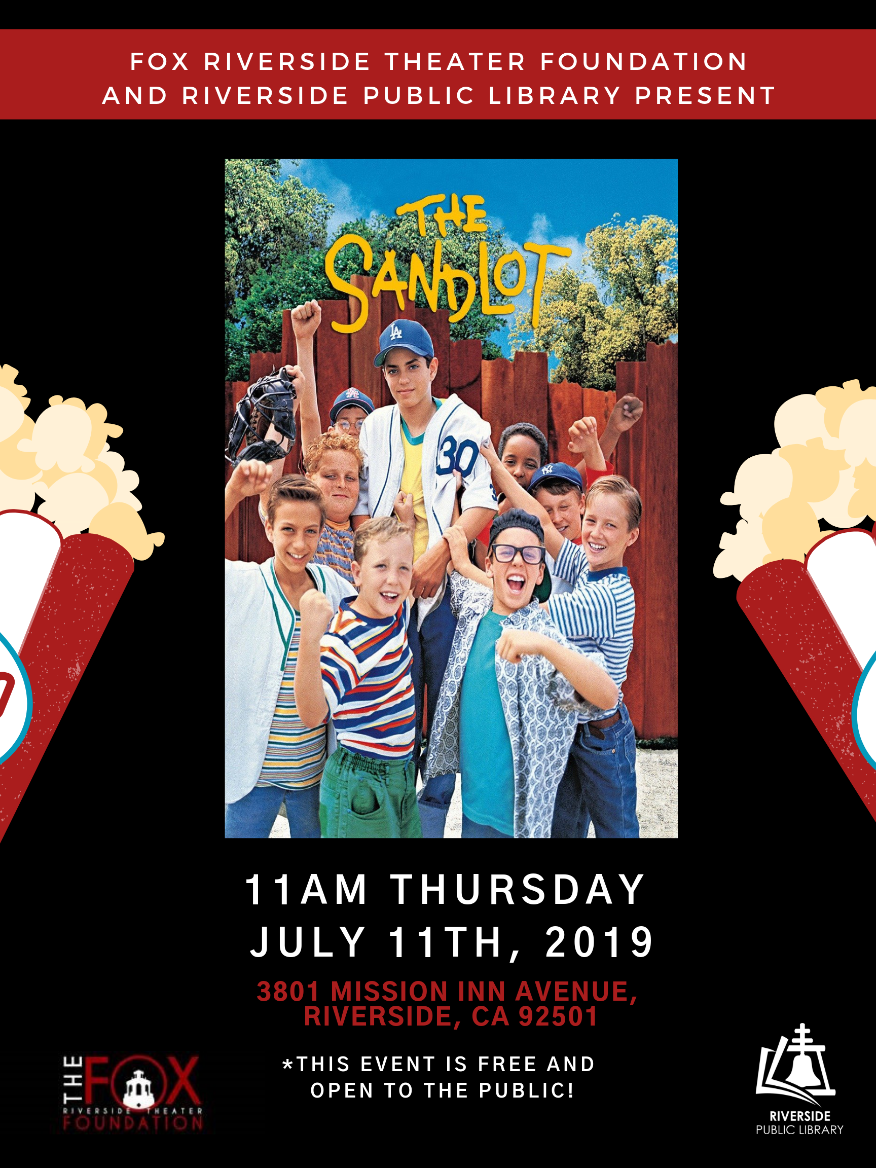 The Sandlot Movie: Presented by Fox Riverside Theater