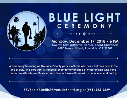 Annual Blue Light Ceremony Riversideca