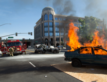 Vehicle Fire Demonstration
